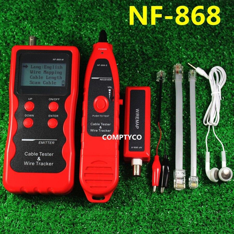 NF-868 RJ11 RJ45 диагностировать тон BNC usb металла телефонные линии Провода трекер Сетевые средства локальной сети Длина Кабеля Тестер
