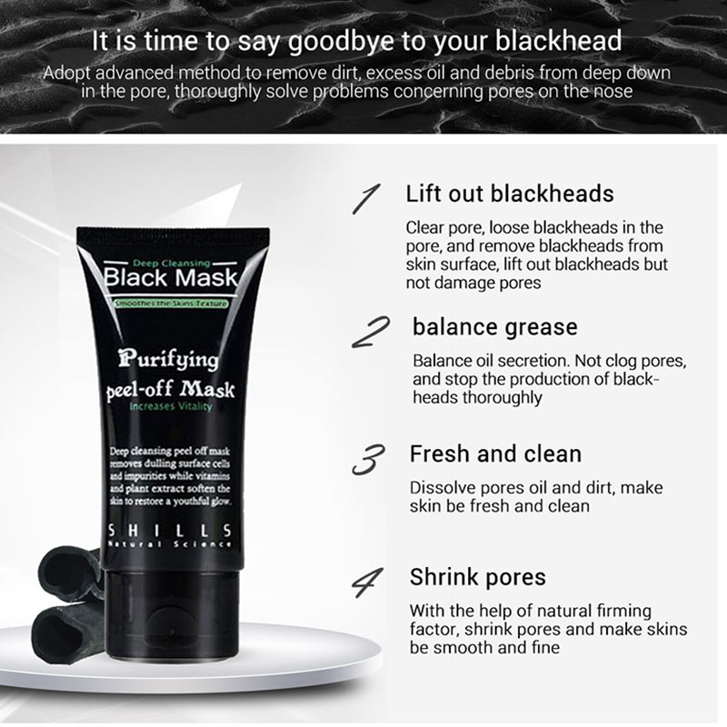 Blackhead Remove Face Masks Deep Cleansing Purifying Peel Off Black Nud Facail Face black Mask in Treatments Masks from Beauty Health
