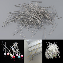 100 PCS Hair Pins Womens U Shaped Waved Gold Silver Metal Stick Forks DIY Craft Accessories 65mm Pin Wholesale