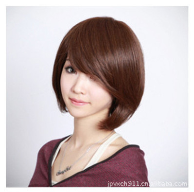 New Women Girls Korean Style Wig Short Hair Bobo Head Straight Hair