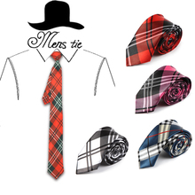 5 cm width 4 Colors Scottish Plaid striped Scottish tartan pattern men s gentlemen s skinny