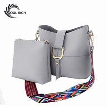 2016 New Design Women Bucket Bag Set Fashion Women Messenger Bags Handbags Women Famous Brands Wide Shoulder Straps Bag Blosa