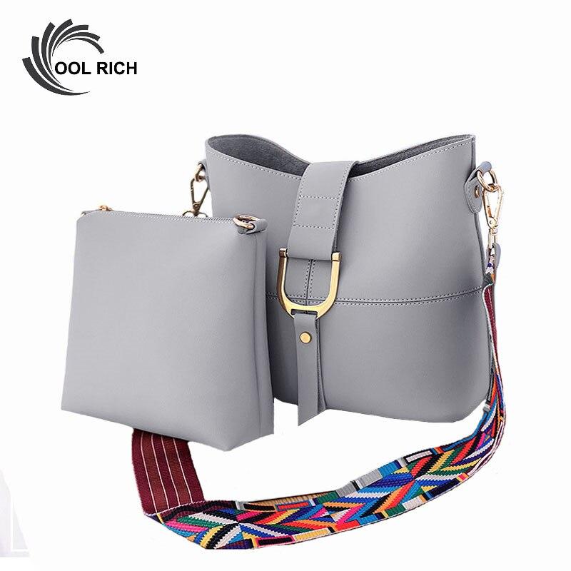 Womens Ladies Designer Style Fashion Shoulder Bag Buckle Bucket Tote Handbags