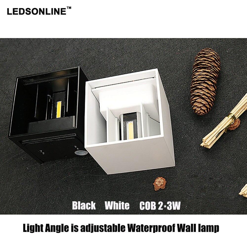 Ny 120-graders vattentät kub COB LED-lampa Vägglampa Moderna - Inomhusbelysning - Foto 2