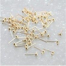20 шт 3 мм Шариковые серьги из нержавеющей стали, серьги-гвоздики, серьги для ногтей, ювелирные изделия для самостоятельного изготовления сережек-гвоздики
