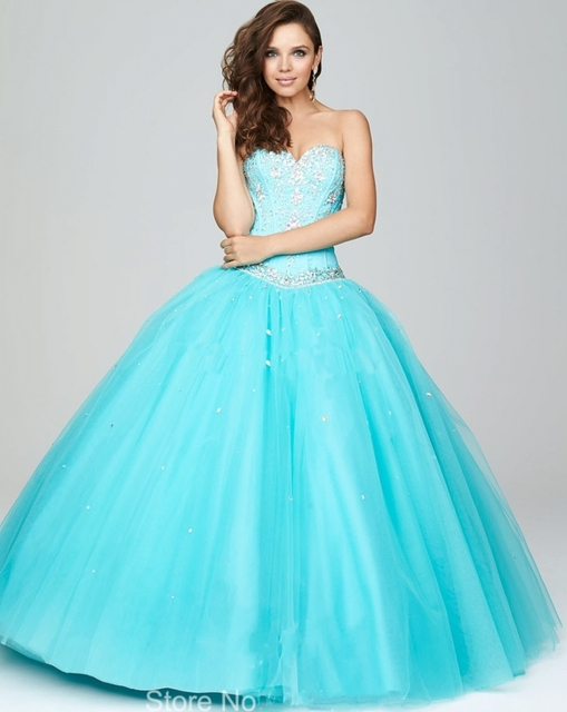 Sparkly Sweetheart Off Shoulder Aqua Blue Wedding Dress Wedding ...