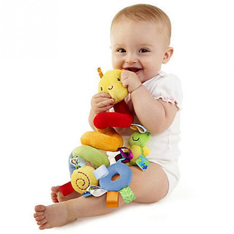 18 шт детские плюшевые животные погремушки Мобильная детская коляска кровать кроватка спиральный подвесной игрушки музыкальный подарок для новорожденных детей 0 12 месяцев - 3