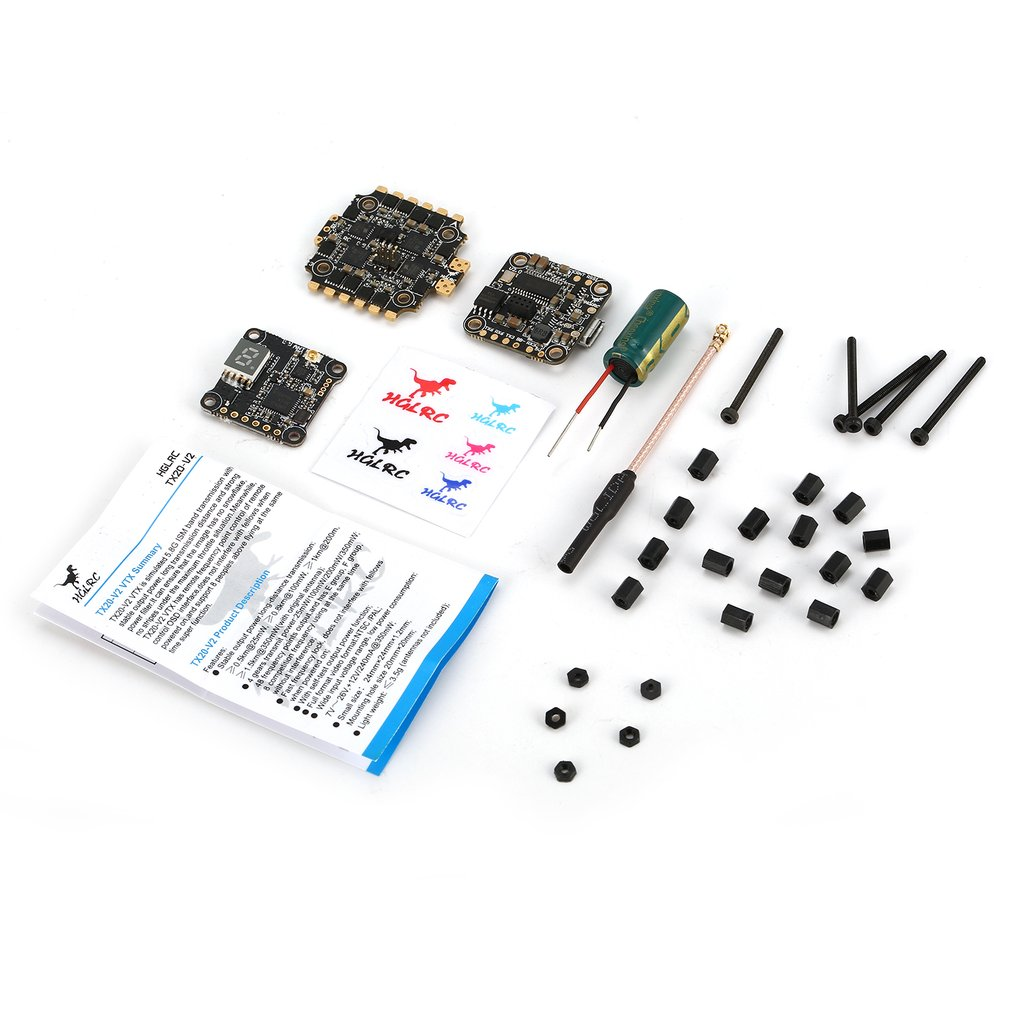HGLRC XJB F440-TX20.v2 F4 Flight Controller FC 40A Blheli_S ESC tx20.v2 VTX HGLRC Flight Controller F4 Flight Controller Parts 1pcs ocday new edition hglrc f3 acro v2 2 flight control v2 1 revision integrated osd
