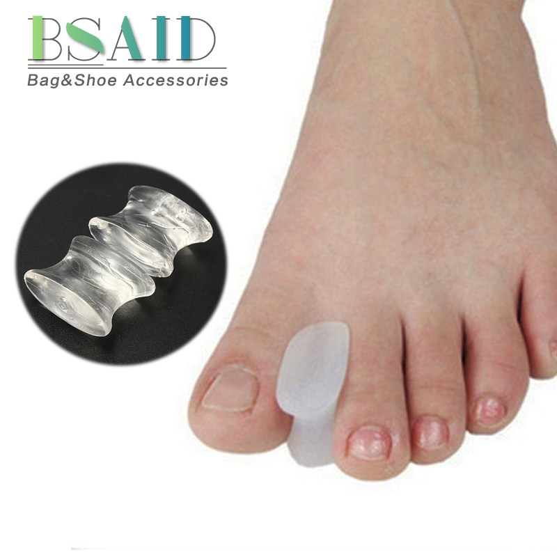 BSAID 1 Pair Toe Separators Orthotics Bunion Health Spacer Shoe Inserts Soft Silicone Gel Insoles Corrector Men Women Shoe Pads