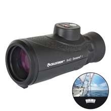 Celestron 8X42 OCEANA Spotting Scope Telescope Monocular With Integrated Compass & Reticle for Hunting Hiking Camping Travel