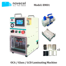 Novecel BM01 OCA Vacuum Laminating Machine for  iPhone Edge Screen Repair with 4L Vacuum Pump Compatible for YMJ Mould все цены