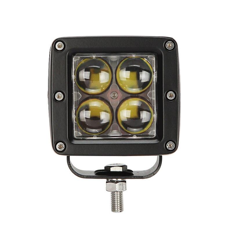 ECAHAYAKU 3 pouces Cubes 20W haute puissance LED lumière de dosette de travail 6000K IP67 antichoc pour Rucks Jeeps hors route vtt 12 V/24 V voiture lampe