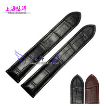 Alligator leather strap leather strap for male tank 18 20mm black series