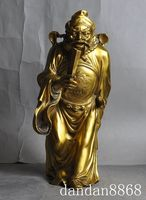 christmas Chinese Taoism Myth Bronze Exorcism God Zhong Kui Catch Devil Ghost Statue halloween