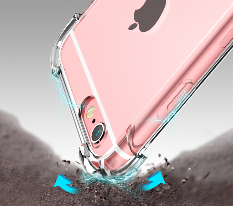 360 Độ Túi Khí Dropproof Mềm Mại Ốp Lưng Điện Thoại Iphone XS Max XR 6 6 S 7 8 Plus X 10 6P 7P 8 P Rõ Nét Ốp Silicon Trong Suốt