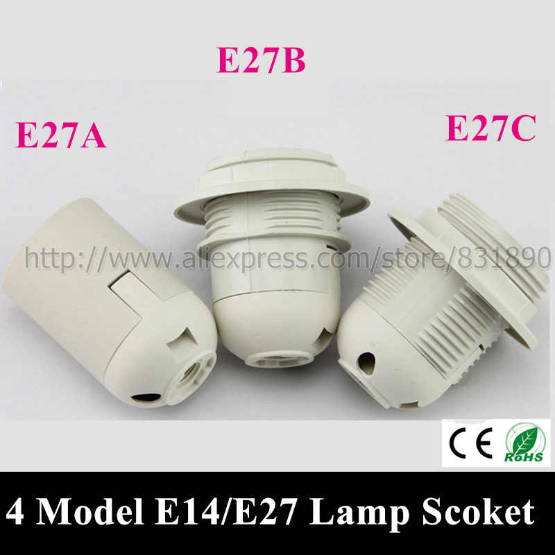 1pcs 8 model led Socket adapter E14 led lamp holder E27 lamp base Retardant Plastic bulb socket base lamp holder free shipping