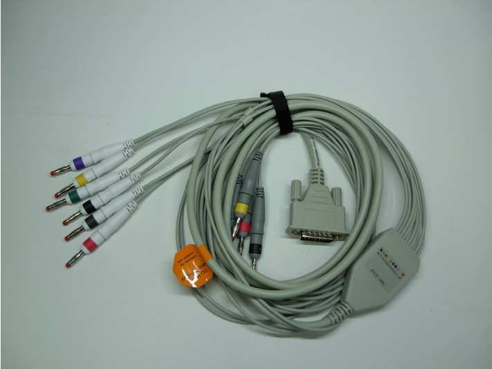 10 leads ECG/EKG cable used for CONTEC ECG/EKG Machine new 10 lead patient ecg ekg cable for all schiller cardiovit machines