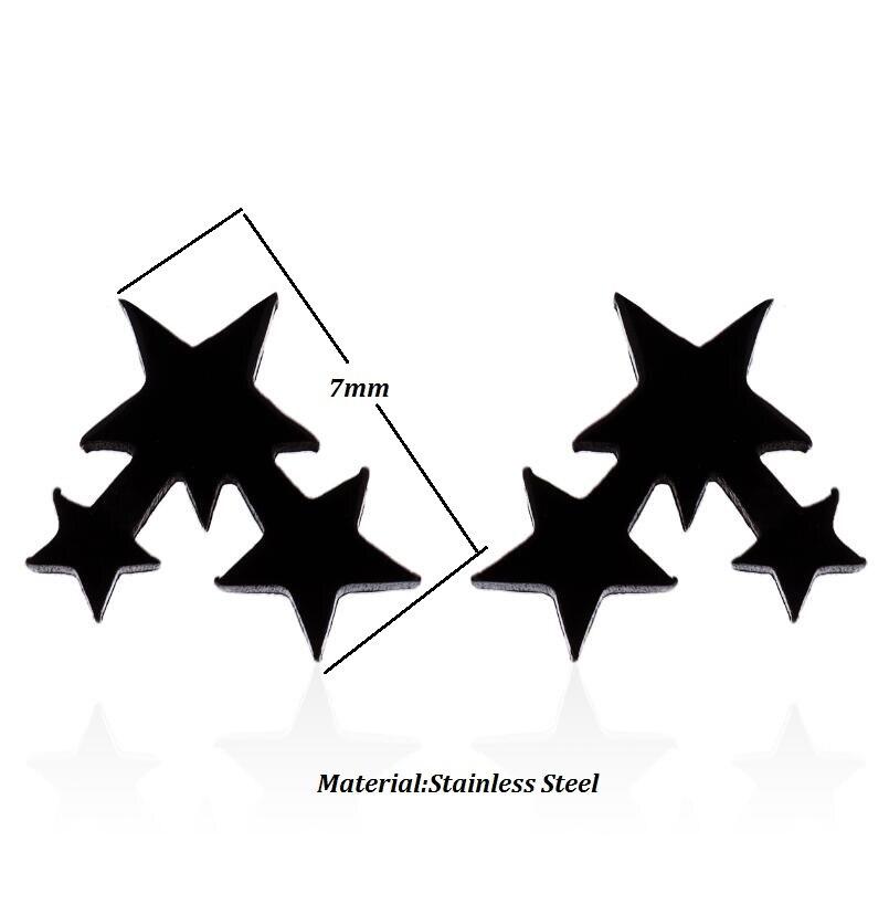 SMJEL, модные богемные ювелирные изделия из старинных серег, милые черные геометрические круглые серьги-гвоздики из нержавеющей стали, лучший подарок для женщин и девушек - Окраска металла: GED016