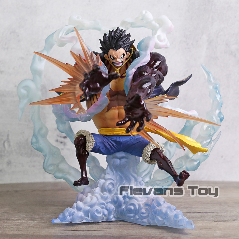 Action & Toy Figures Hot 26cm One Piece Monkey D Luffy Gear Third Gomu Gomu No Jet Gatling Luffy Action Figure Toys Doll Collection