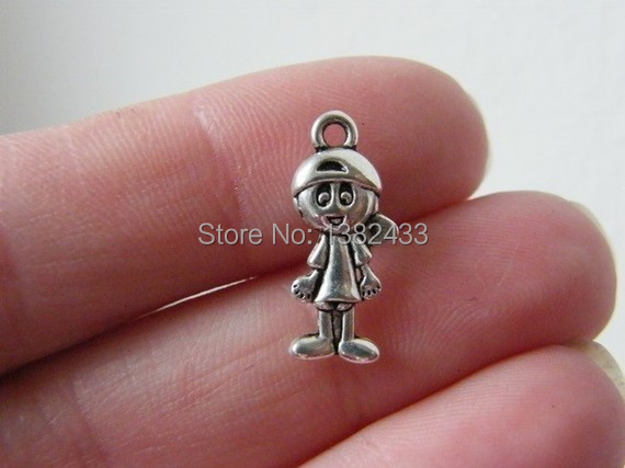 boy baby gold a little its solid pendant charm