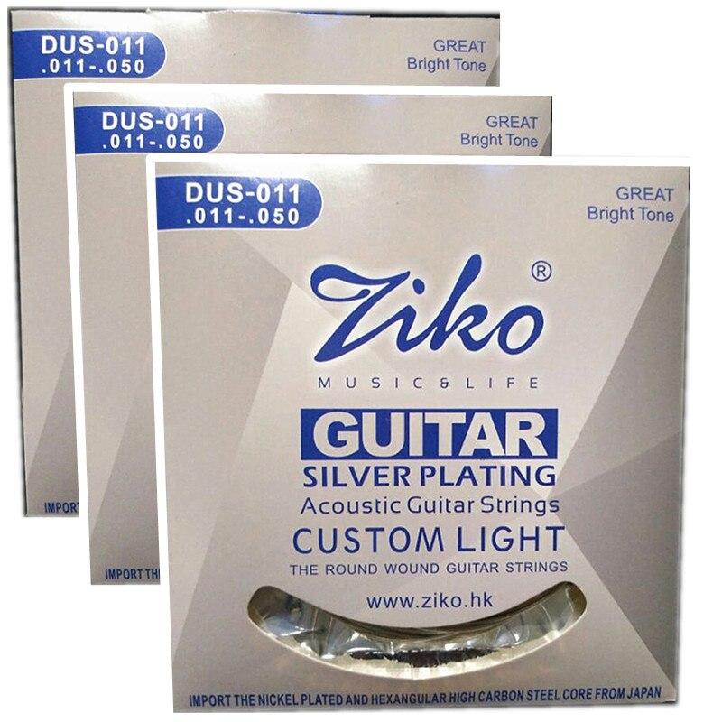 3 set/lote 011-050 dus-011 ziko cuerdas de guitarra acústica guitar parts acceso