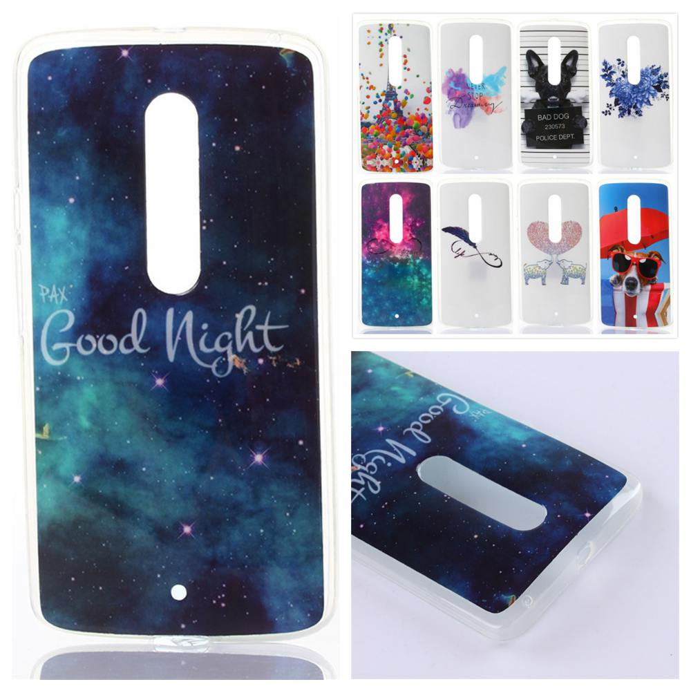 Cartoon Glossy Soft TPU IMD Silicon Dog painted phone case sfor Motorola Moto X Play XT1561 XT1562 Back Cover skin shell