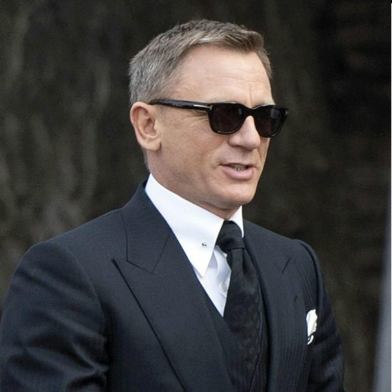 New Square James Bond Men Sunglasses Brand Designer Glasses Women Super Star Celebrity Driving Sunglasses Tom For Men Eyeglasses