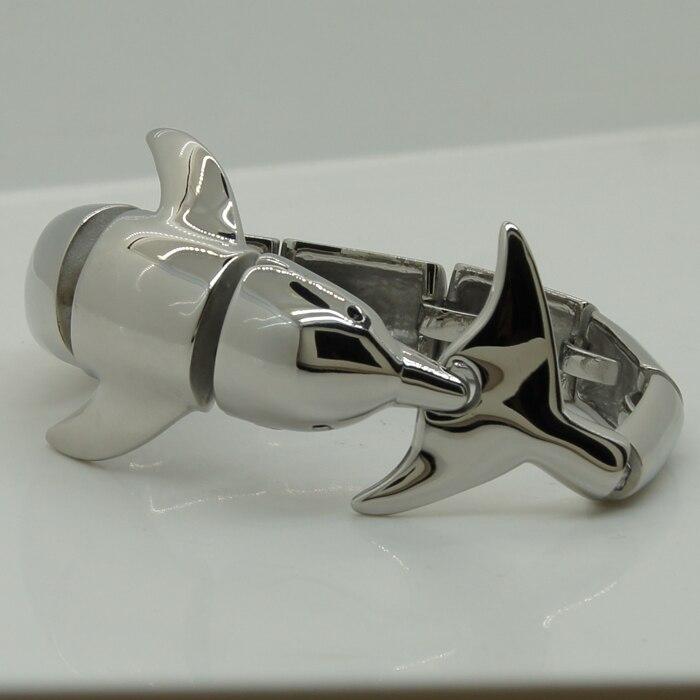 Bracelet de vélo homme/garçon en acier inoxydable 316L extrêmement brillant - 5