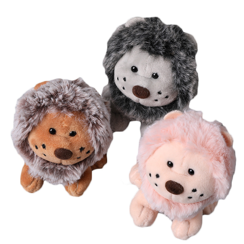 Toys & Hobbies Provided Cute Cartoon Animal Lion Plush Toy Keychain Backpack Keychain 11cm Lion Small Gift Couple To Children Bag Small Bag Pendant New