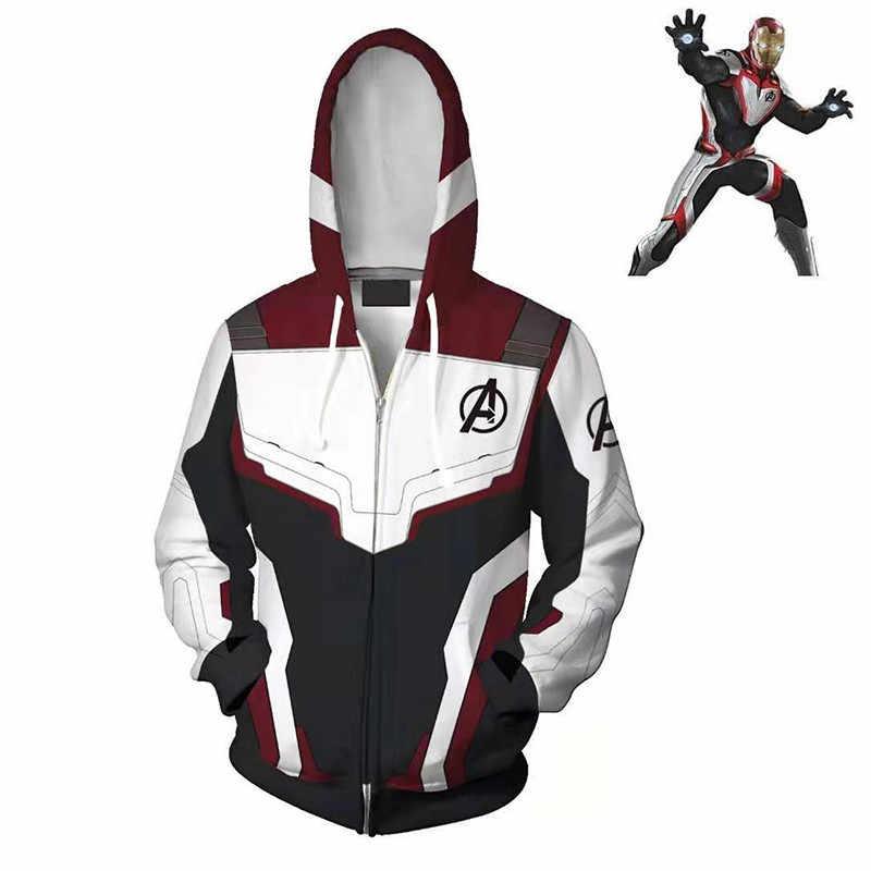Мстители эндшпиль Quantum области 3D толстовки и свитшоты с рисунком супергероя Капитан Америка гладить Мужское пальто куртка Тони Толстовка STARK брюки
