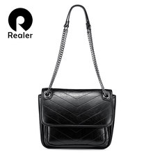REALER shoulder bag women messenger bags ladies chain crossbody bag artificial leather purse and handbag fashion female(China)