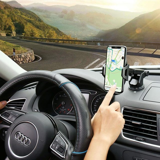 KISSCASE Car Phone Holder For iPhone Adjustable Holder For Phone in Car Windshield Stand Car Mobile Support Smartphone Voiture 6