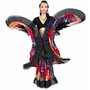 Image 4 - 2018 hohe qualität günstige gypsy bauchtanz röcke für frauen big blumen dance kostüm NMMQB01