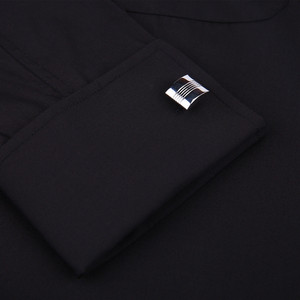 Image 4 - Clássico preto francês abotoaduras vestido de negócios masculino camisa de manga longa lapela camisa social 4xl 5xl 6xl ajuste de rotina