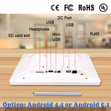 10.1 inch android all in one pc tv with vga/ DC input, USB for desktop