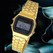 New Fashion gold silver Couple Watch digital watch square military men/ women dress sports watches whatch women gold
