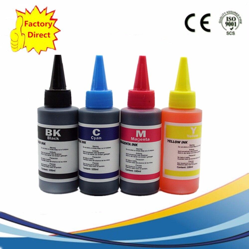 4 x 100ML Dye Ink Printer Refill Ink Kit For Brother Inkjet Printer For CISS Refillable