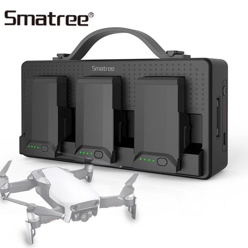 Smatree зарядное устройство для DJI Mavic Air батареи для мобильного телефона iPad Пульт дистанционного управления 14250 мАч зарядный концентратор заря...