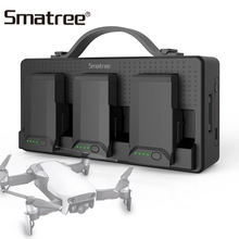 Smatree Battery Charger For DJI Mavic Air Batteries For Cellphone iPad Remote Control 14250mAh Charging Hub Charge 3 Batteries 3 in 1 mavic air car charger accessories remote control charger for dji mavic air transmitter controller charger