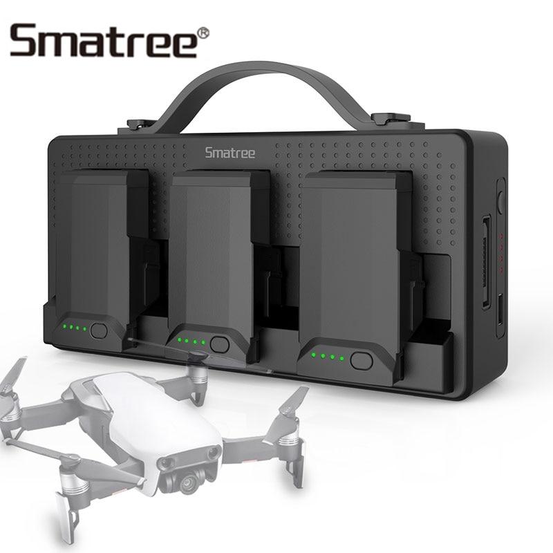 Smatree chargeur de batterie pour DJI Mavic Air Batteries pour téléphone portable iPad télécommande 14250 mAh Charge de moyeu de Charge 3 Batteries