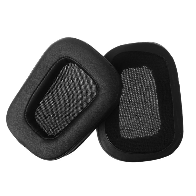 1Pair Protein Skin Earpads <font><b>Ear</b></font> Cushion Replacement for Logitech <font><b>G933</b></font> G633 Artemis Spectrum Surround Gaming Headset Over <font><b>Ear</b></font> Head image