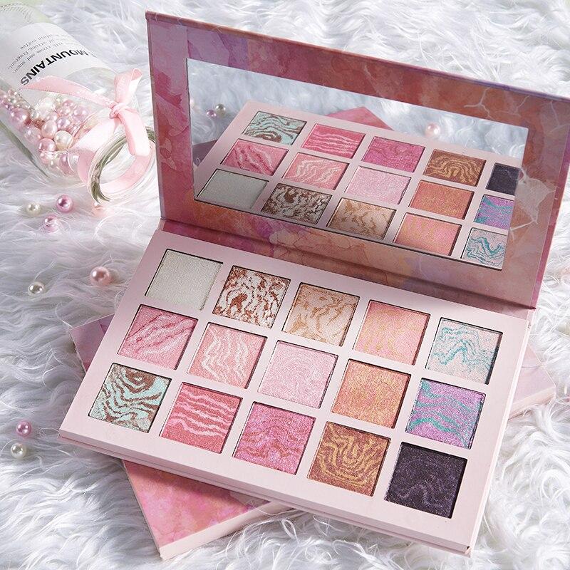 Dazzlingly 15 Cores Glitter Shimmer da Paleta da sombra Da Sombra Maquiagem Beleza Coréia Cosméticos da Sombra de Olho