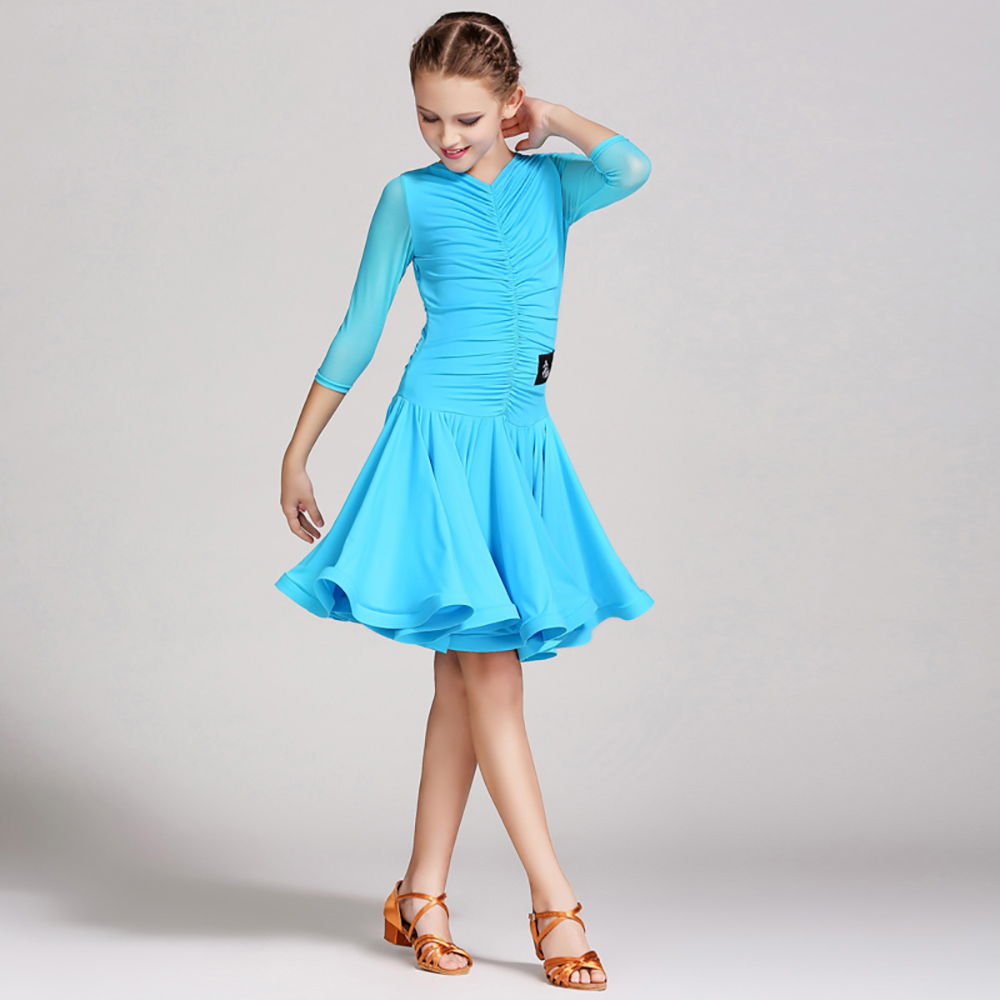 3777907cd Nice Quality Latin Dance Dresses For Girls Lace Skirts Pretty Children Cha  Cha/ Dance Girl Dresses Dance Dress Standard Girl-in Latin from Novelty &  Special ...
