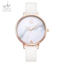 New SK Women  Luxury Brand Wristwatch Leather female Watch Fashion Ladies Geneva Quartzwatch Clock Relogio Feminino Shengke