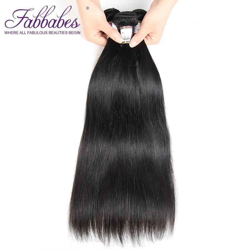 Fabbabes Indian Straight Hair 3 Pcs Human Hair Bundles Remy