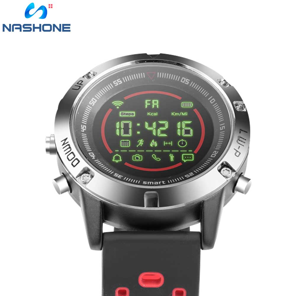 Image 2 - Nashone Men's Watches Waterproof Smart Watch Passometer Call Reminder Multi Function Stainless Steel Sports Watch Digital Clock-in Smart Watches from Consumer Electronics