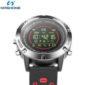 Image 2 - Nashone montres pour hommes étanche montre intelligente passomètre rappel dappel multi fonction en acier inoxydable montre de sport horloge numérique