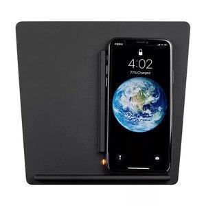 Image 5 - Беспроводная зарядная подставка для мобильного телефона Tesla Model 3 Y аксессуары для док станции зарядное устройство для центральной консоли Зажигалка для iPhone