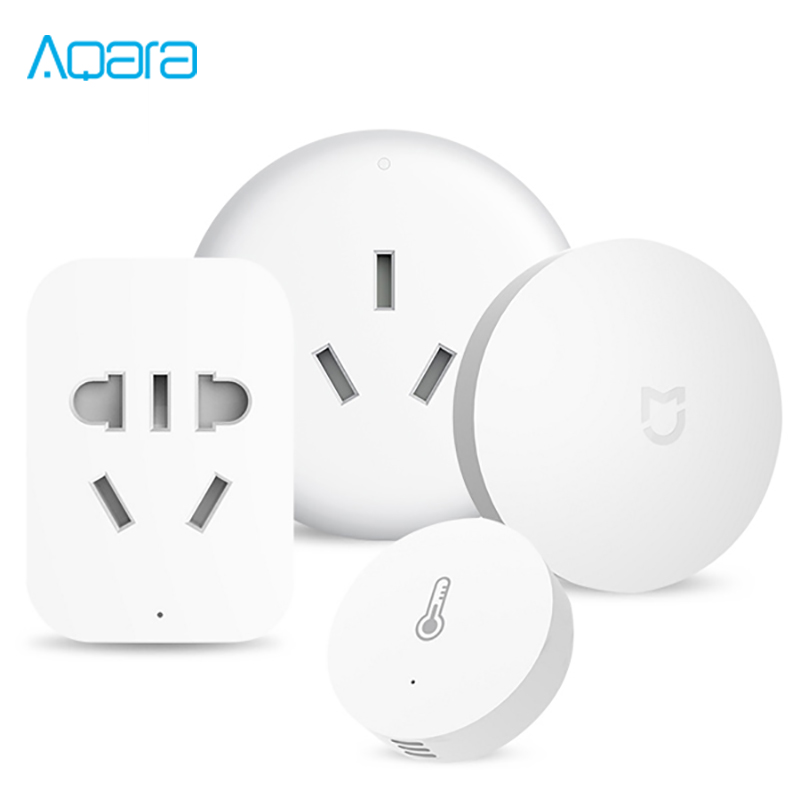 Xiaomi Aqara Mijia Smart Home Temperature Control Conditioner Controller Temperature Humidity Sensor 2.4G ZigBee Wireless Switch xiaomi aqara mijia smart home temperature control set air conditioner controller temperature humidity sensor wireless switch