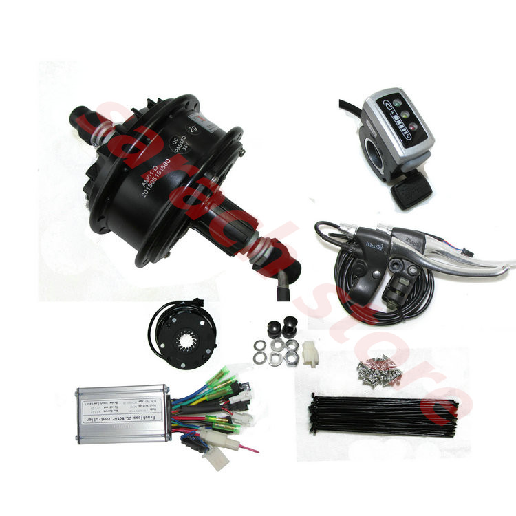350w 24v Brushless Gear Hub Motor Electric Hub Motor